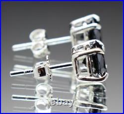 1.90tcw Real Natural Black Diamond Stud Earrings AAA Grade & $1150 Retail Value