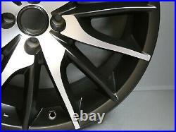 1 Alfa Romeo Mito Qv 18 Alloy Wheel Rim Black Diamond Cut Genuine 156097893