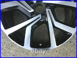 1 x VW Golf MK7 VII 5G 19 Brescia DIAMOND CUT BLACK GENUINE OEM Alloy Wheel