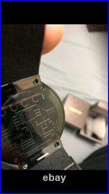 100% Authentic Gucci digital watch with real black diamonds
