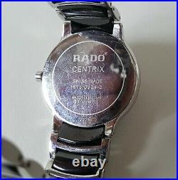 100% Genuine Men's Diamond Dot Rado Centrix Quartz Wrist Watch