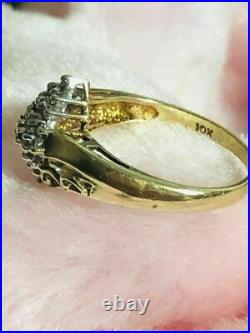 10K GOLD With 25 BRILLIANTS REAL DIAMONDS 0.5CT LADIES RING With BLACK BOX 2.8GRAMS