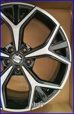 19 Genuine Seat Ateca Aneto Black and diamond alloy wheel SINGLE 575071499