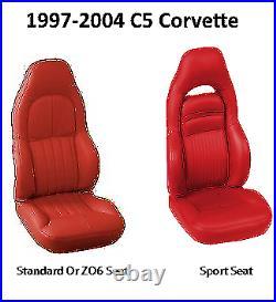 1997-2004 C5 Corvette Light Oak Leather Replacement Seat Covers & Diamond Stitch
