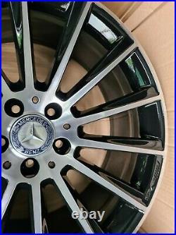 20 Genuine Mercedes Glc Amg Black Diamond Cut Alloy Wheel A2534011900 Single