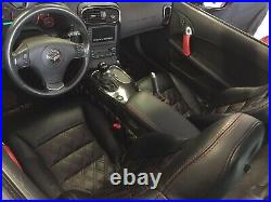 2005-2011 C6 Corvette Replacement Leather Seat Covers Black With Diamond Stitching