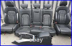 2009-16 Audi Sq5 8r Diamond Honeycomb Cross Stitch Black Leather Seats Interior