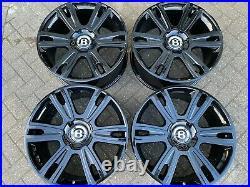 21 BENTLEY GT GTC SPUR black diamond genuine forged alloy wheels 3W0601025