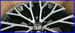 22 Genuine Volvo XC60 Split Spoke Diamond Gloss Black Alloy Wheel 31454682 X1