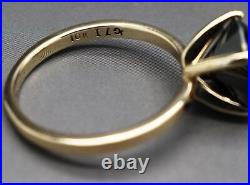 3.00cts Real Natural Black Diamond 10k Yellow Gold Engagement Ring Value