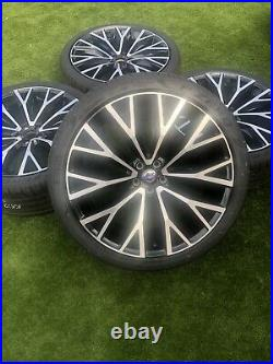4 Genuine Volvo XC60 22 10 Split Spoke Diamond 31454682 Gloss Black Alloy Wheel