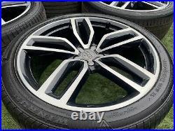 4 X Genuine Audi 21 SQ5 Q5 Alloy Wheels And Tyres+Diamond Cut+Black+Quattro+