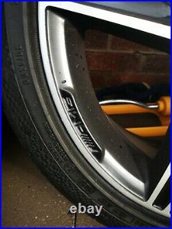 4 staggered Mint Diamond cut Genuine Mercedes W205 Black AMG alloy wheels