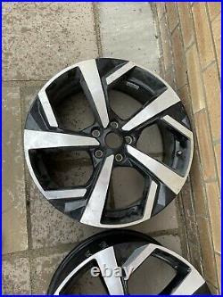 4x Nissan Qashqai 19 Alloy Wheels Diamond Black Silver Tekna Genuine D0300HV05A
