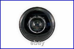 7 Round REAL Diamond-Cut Projector Headlight (LHD, Black) Porsche 911, 924