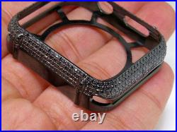 Apple I Watch Genuine Black Diamond PVD Watch 42MM Bezel Capsule Case 2.50ct
