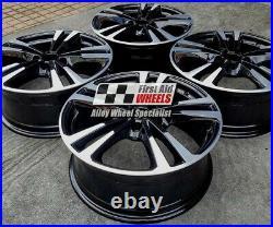 Audi A3 Set 4x 18 Genuine 5 Twin Spoke Black Diamond Cut Alloy Wheels S245dcb