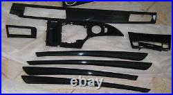 BMW Genuine E60 E61 LCI 5 Series Diamond Black Interior Trim Kit 2008-2010 New