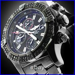 Black Breitling Super Avenger A13370 3ct Black Genuine Diamonds Bezel Watch