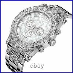 Brand New RARE $1,635 LYNX J6336E Chronograph Real Dial Diamond Men's Watch