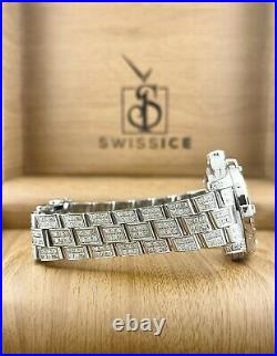 Breitling Colt Oceane 33mm Ladies Iced Out 7ct Black Genuine Diamonds Ref A77380