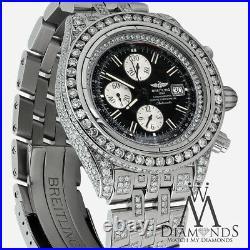 Breitling Men's Evolution Watch With Custom Added 15ct Genuine Diamonds