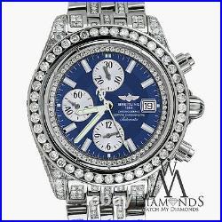 Breitling Men's Evolution Watch With Custom Added 15ct Of Genuine Diamonds