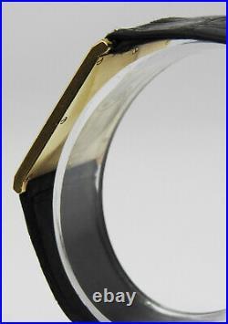 CONCORD Delirium 18K Real Solid Gold With Factory Diamonds Quartz Rare Men Watch