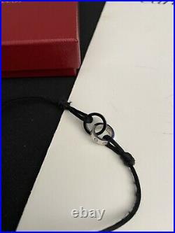 Cartier 18k White Gold Black Ceramic Diamond Love Bracelet (Genuine)