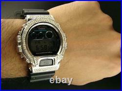 Casio Mens G Shock 6900 Jojino Aqua Master White Genuine Diamond Watch 4.0 Ct