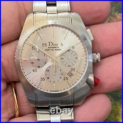 Christian Dior Chiffre Rouge Date Cd084612 Chronograph Genuine Watch Eta 2894/2