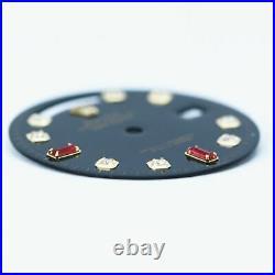 Custom Rolex Black Dial w Genuine Diamonds Ruby Day-Date 36mm Quickset