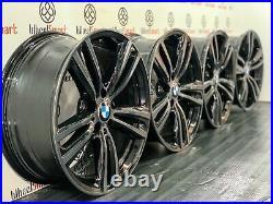 GENUINE BMW 442 19 ALLOY WHEELS 5 x 120 GLOSS BLACK & DIAMOND CUT