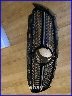 GENUINE DIAMOND GRILL FOR MERCEDES E CLASS W213 BLACK CHROME WithCAMERA HOLE