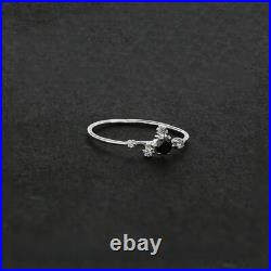 Genuine 14K Gold White-Black Proposal Ring Fine Jewelry