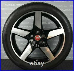 Genuine 18 Jaguar XE Alloy Wheels Black & Diamond Cut With RUN FLAT Tyres 4