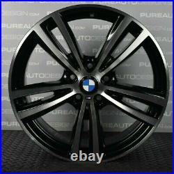 Genuine 19 BMW 442M 3 4 Series Alloy Wheels Black & Diamond Turned FULL SET