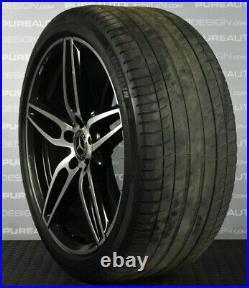 Genuine 19 E Class Mercedes Alloy Wheels Black Diamond Cut Michelin Tyres SET