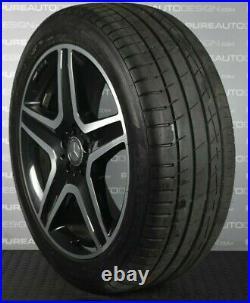 Genuine 20 Mercedes ML GLE Alloy Wheels Black Diamond Turned With Tyres 5x112