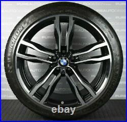 Genuine 21 BMW X5 612M Alloy Wheels Michelin Tyres Viper Black Diamond Cut TPMS