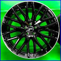 Genuine A5 S5 Q5 A7 RS4 RS5 20 inch alloy wheels 8R0601025CE Black Diamond Lip