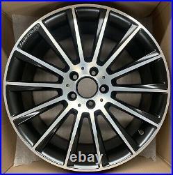 Genuine AMG Mercedes C Class Alloy Wheel Set Diamond/Satin Black 19 7.5J 8.5J
