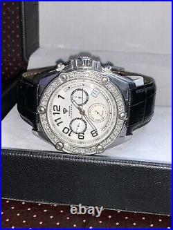 Genuine Aqua Master 3.5ct Diamond Watch