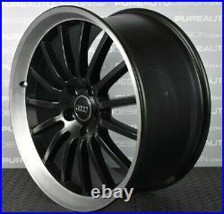 Genuine Audi 19 Candelas Alloy Wheels Satin Black Diamond Turned Lip 5 x112 x 4