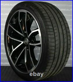 Genuine Audi A4 A5 S4 S5 19 Cavo VIPER BLACK DIAMOND CUT Alloy Wheels Tyres