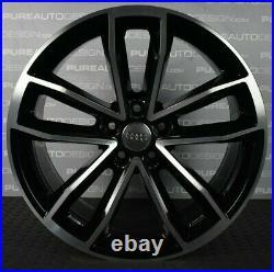 Genuine Audi A4 A5 S4 S5 19 Cavo Viper Black Diamond Turned Alloy Wheels 5x112