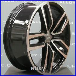 Genuine Audi Q5 Sq5 8r 21 Inch Twin Spoke Black/diamond Turned Alloy Wheels X4