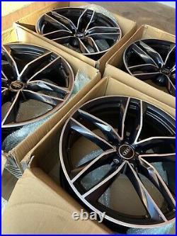 Genuine Audi RS6 RS7 A6 21 Alloy Wheels 4G0601025CE ET25 Black Diamond x4