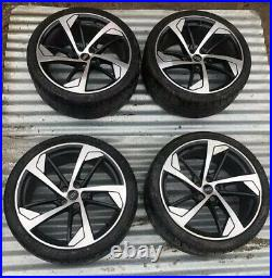 Genuine Audi Rs4 Rs5 8w 20 Inch Black/diamond Turned Alloy Wheels Withh Tyres