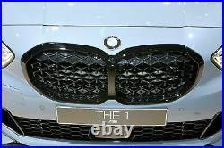 Genuine BMW 1 Series F40 Diamond Pattern Shadowline Black Grilles 51135A39370